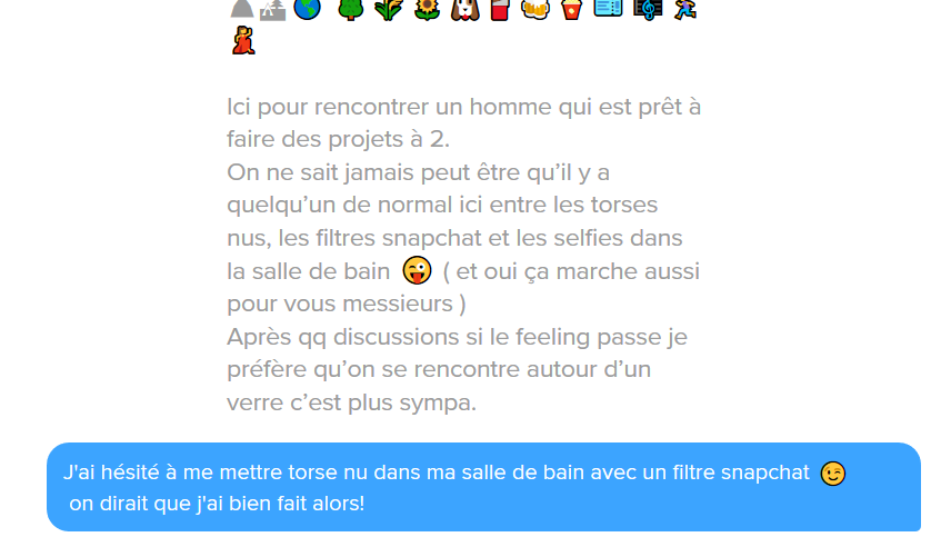 phrase accroche tinder