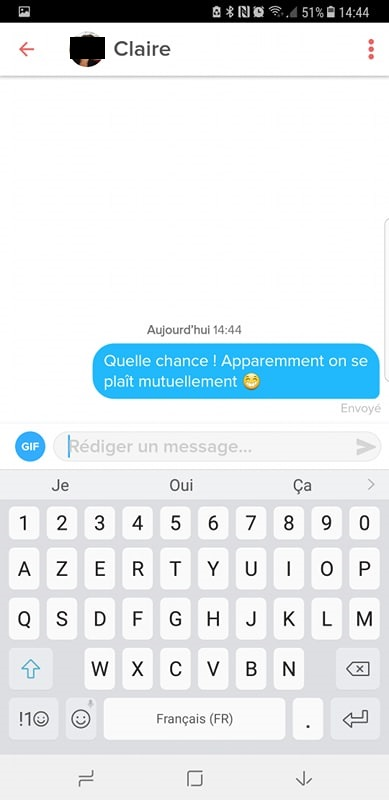 premier message tinder on se plait