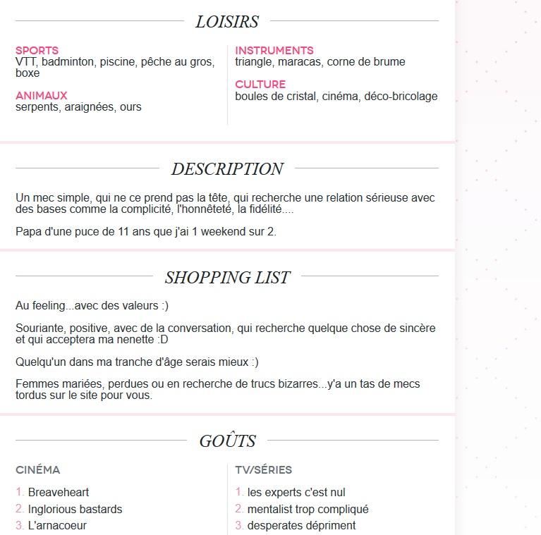 description site de rencontre