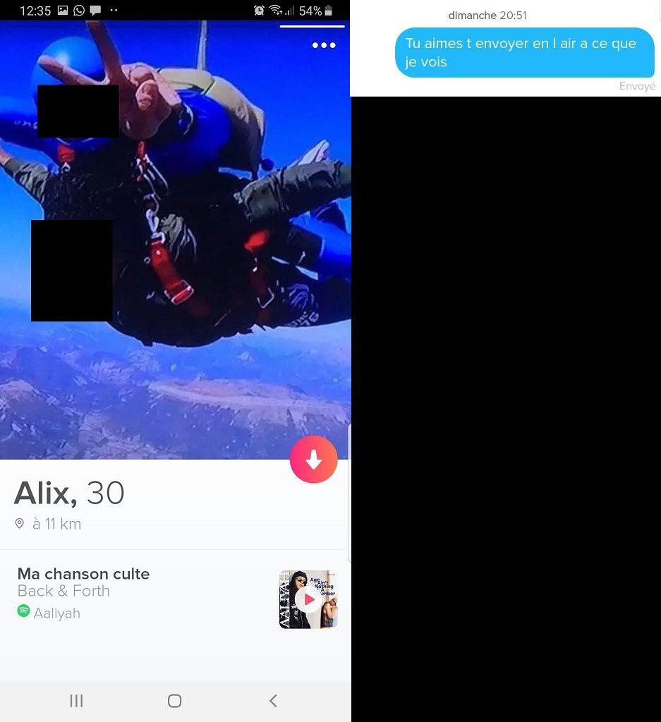 premier message tinder a une fille
