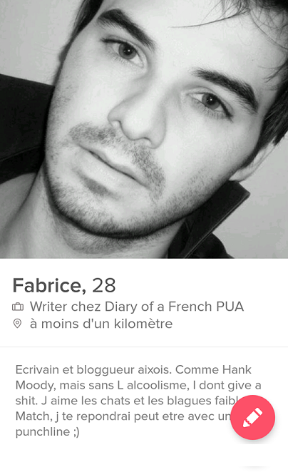 annonce tinder qui match